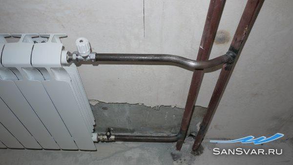 Металлические трубы в системе отопления