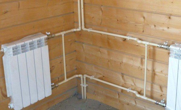 Полипропиленовые трубы  в системе отопления дома