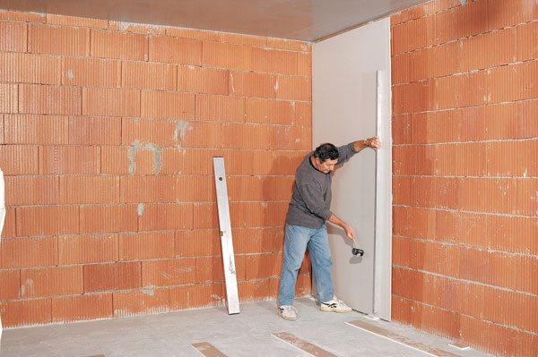 Бескаркасная отделка стен