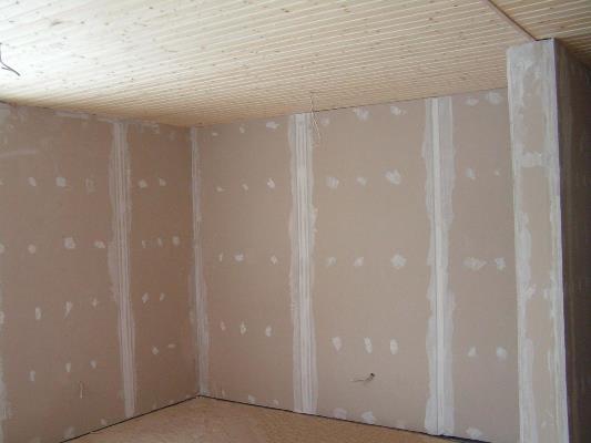 Внутренняя отделка стен дома гипсокартоном