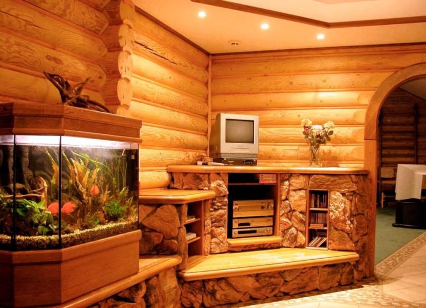 Блок-хаус для внутренней отделки дома